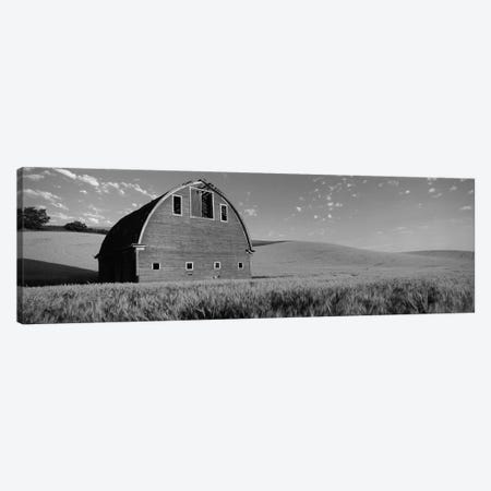 Old barn in a wheat field, Palouse, Whitman County, Washington State, USA 3-Piece Canvas #PIM11726} by Panoramic Images Canvas Art Print
