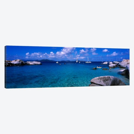 Seascape, The Baths, Virgin Gorda, British Virgin Islands Canvas Print #PIM1172} by Panoramic Images Art Print