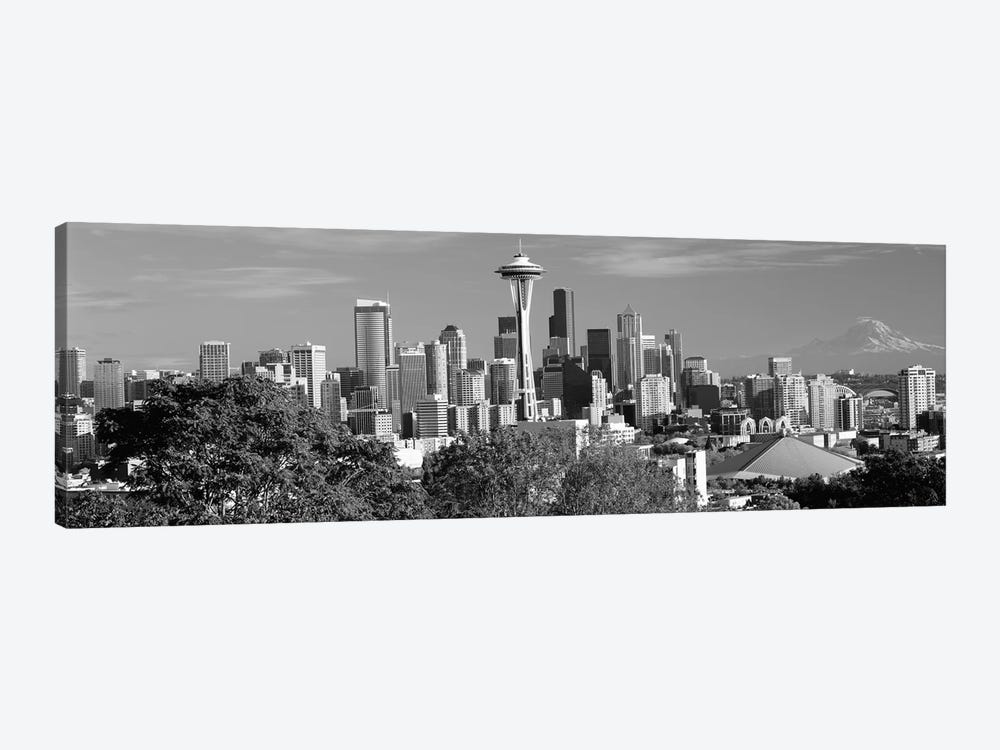City viewed from Queen Anne Hill, Space Needle, Seattle, King County, Washington State, USA 2010 by Panoramic Images 1-piece Art Print