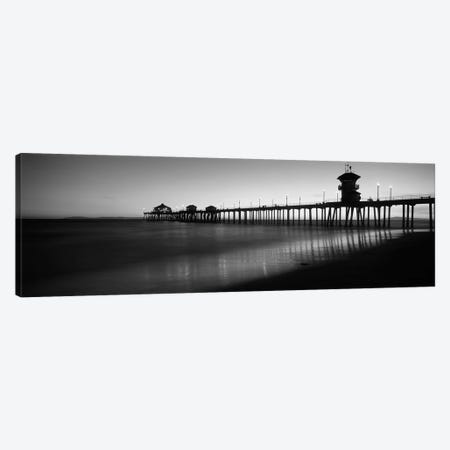 Pier in the sea, Huntington Beach Pier, Huntington Beach, Orange County, California, USA Canvas Print #PIM11737} by Panoramic Images Canvas Wall Art