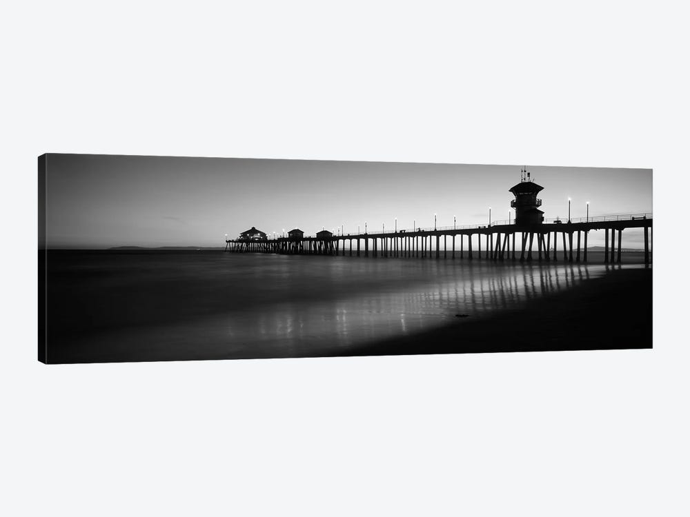 Pier in the sea, Huntington Beach Pier, Huntington Beach, Orange County, California, USA by Panoramic Images 1-piece Canvas Art Print