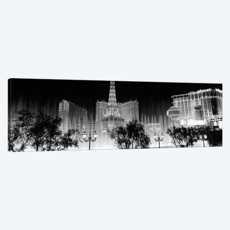 Hotels in a city lit up at night, The Strip, Las Vegas, Nevada, USA Canvas Print #PIM11739} by Panoramic Images Canvas Print
