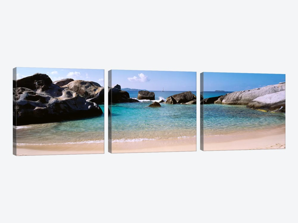 Tidal Pool, The Baths, Virgin Gorda, British Virgin Islands by Panoramic Images 3-piece Canvas Print