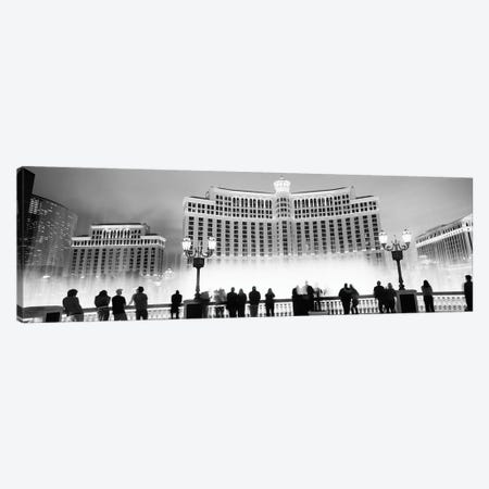Hotel lit up at night, Bellagio Resort And Casino, The Strip, Las Vegas, Nevada, USA Canvas Print #PIM11740} by Panoramic Images Canvas Artwork