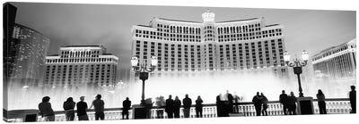 Hotel lit up at night, Bellagio Resort And Casino, The Strip, Las Vegas, Nevada, USA Canvas Art Print