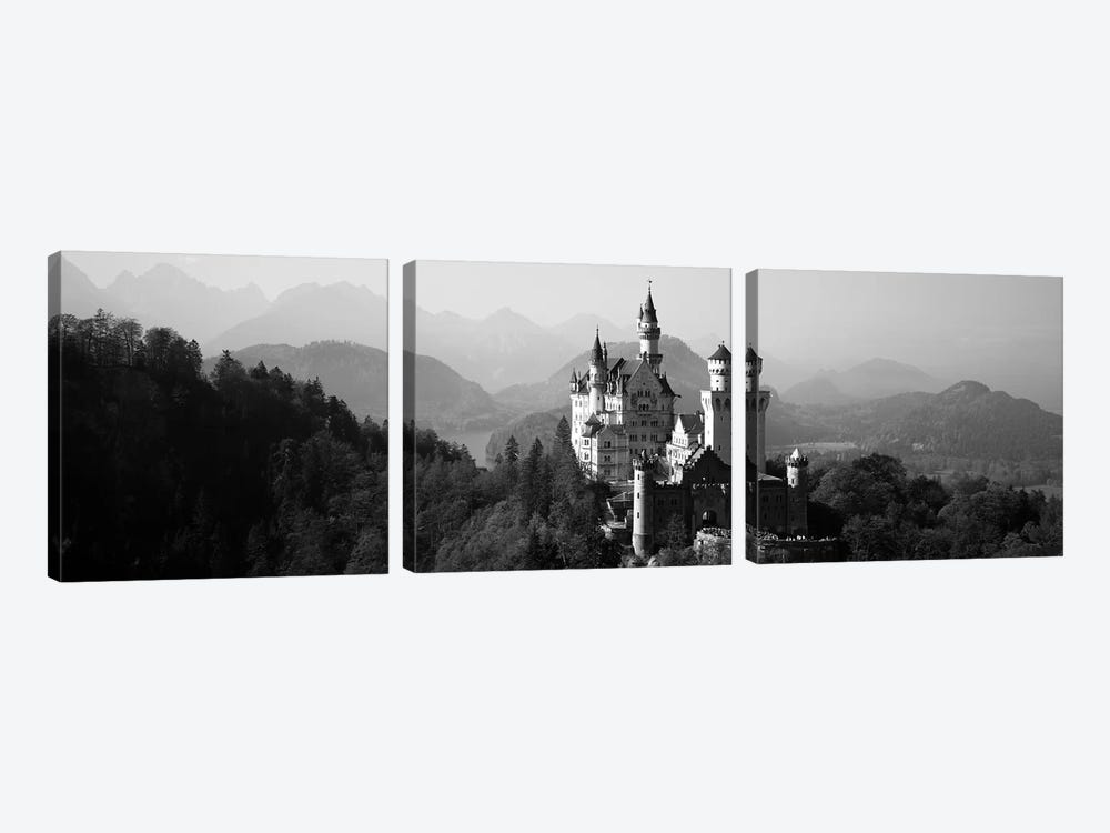 Castle on a hill, Neuschwanstein Castle, Bavaria, Germany by Panoramic Images 3-piece Canvas Print