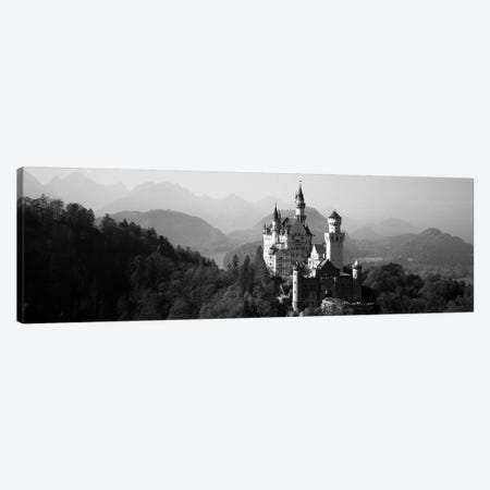 Castle on a hill, Neuschwanstein Castle, Bavaria, Germany 3-Piece Canvas #PIM11760} by Panoramic Images Canvas Wall Art