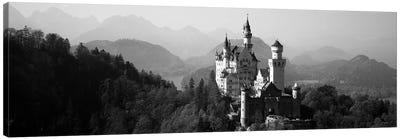 Castle on a hill, Neuschwanstein Castle, Bavaria, Germany Canvas Art Print