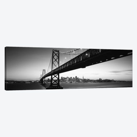 Bridge across a bay with city skyline in the background, Bay Bridge, San Francisco Bay, San Francisco, California, USA #2 Canvas Print #PIM11763} by Panoramic Images Canvas Wall Art