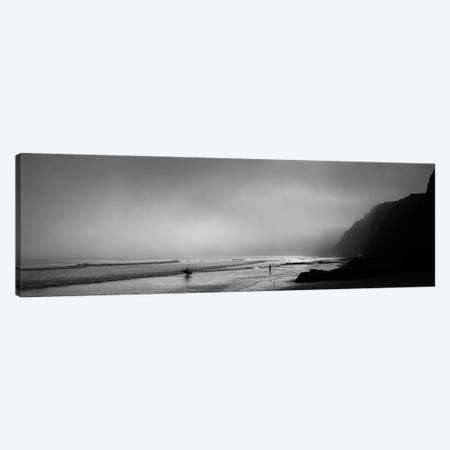 Surfers on the beach, Point Reyes National Seashore, Marin County, California, USA Canvas Print #PIM11768} by Panoramic Images Canvas Wall Art