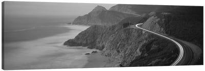 State Route 1 In B&W, California, USA Canvas Print #PIM11773