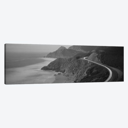 State Route 1 In B&W, California, USA 3-Piece Canvas #PIM11773} by Panoramic Images Canvas Print