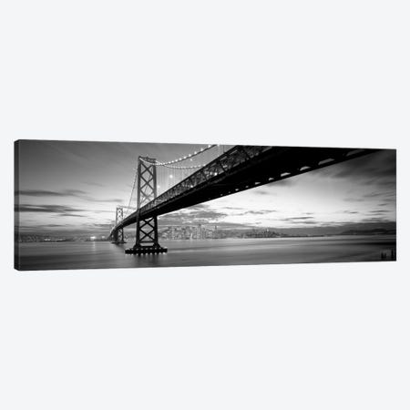 Twilight, Bay Bridge, San Francisco, California, USA Canvas Print #PIM11777} by Panoramic Images Canvas Wall Art
