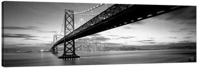 Twilight, Bay Bridge, San Francisco, California, USA Canvas Print #PIM11777