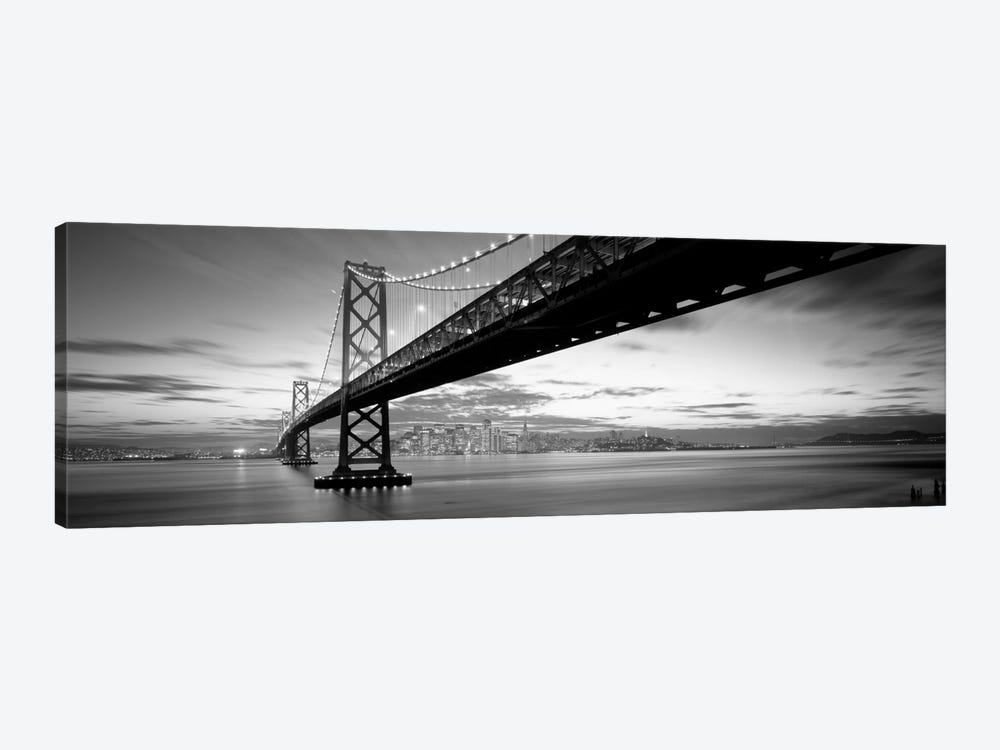Twilight, Bay Bridge, San Francisco, California, USA by Panoramic Images 1-piece Canvas Print