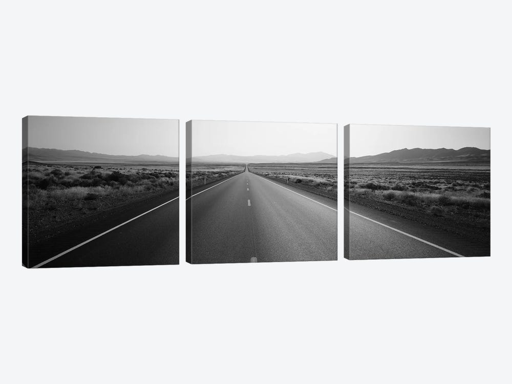 Desert Road, Nevada, USA by Panoramic Images 3-piece Art Print