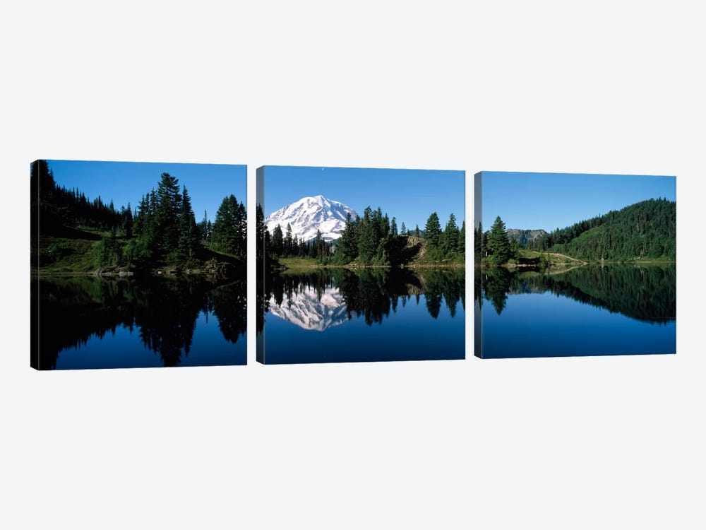 Eunice Lake Mt Rainier National Park WA USA by Panoramic Images 3-piece Canvas Print