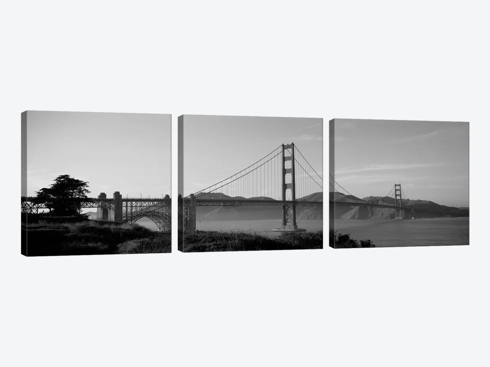 Golden Gate Bridge San Francisco CA USA by Panoramic Images 3-piece Canvas Artwork