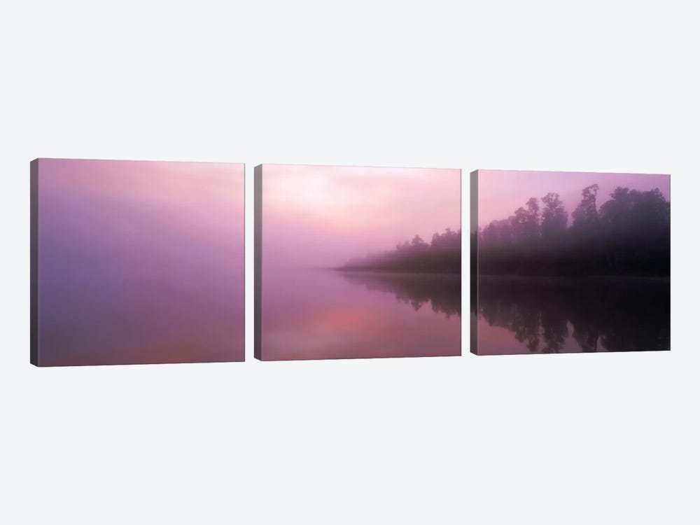 Lake Paringa South Island New Zealand 3-piece Canvas Wall Art