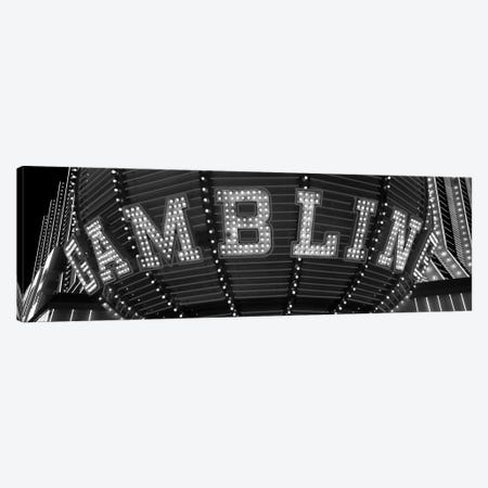 Close-up of a neon sign of gambling, Las Vegas, Clark County, Nevada, USA Canvas Print #PIM11793} by Panoramic Images Art Print