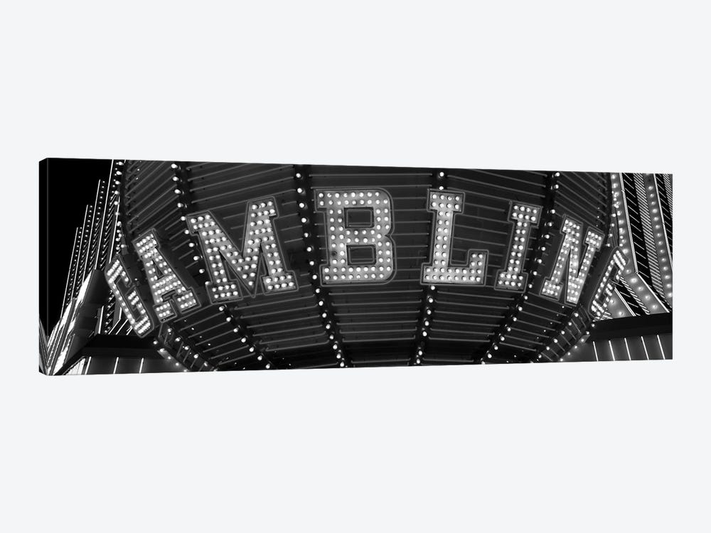 Close-up of a neon sign of gambling, Las Vegas, Clark County, Nevada, USA 1-piece Art Print