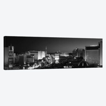 Buildings Lit Up At Night, Las Vegas, Nevada, USA Canvas Print #PIM11795} by Panoramic Images Canvas Artwork
