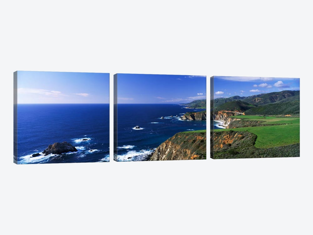 Coastal Landscape, Big Sur, California, USA by Panoramic Images 3-piece Art Print