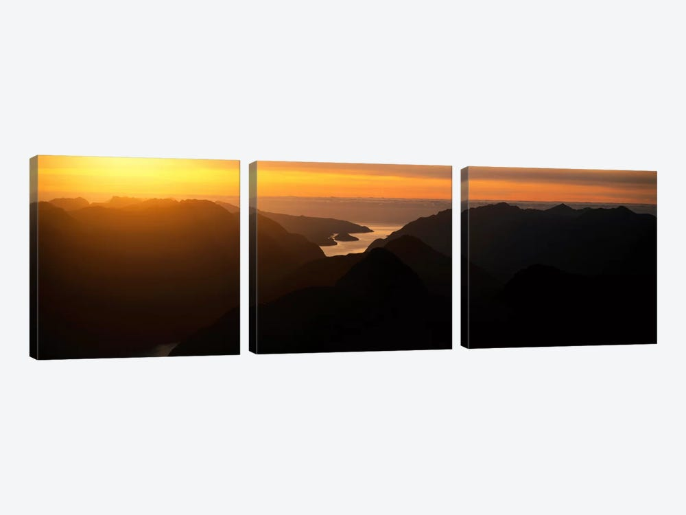 Fiordland National Park New Zealand by Panoramic Images 3-piece Canvas Artwork