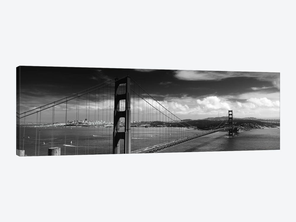 Bridge Over A River, Golden Gate Bridge, San Francisco, California, USA 1-piece Canvas Wall Art