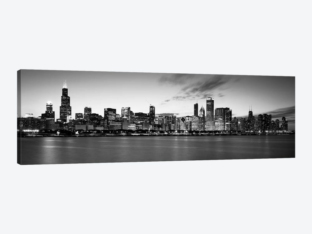 Buildings at the waterfront, Lake Michigan, Chicago, Cook County, Illinois, USA by Panoramic Images 1-piece Canvas Print