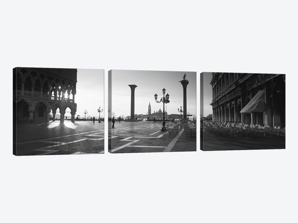 Saint Mark Square, Venice, Italy by Panoramic Images 3-piece Canvas Wall Art