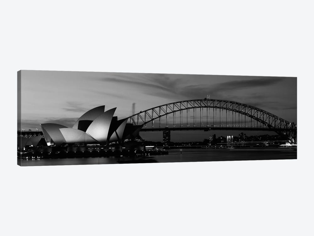 Sydney Harbour In B&W, Sydney, New South Wales, Australia by Panoramic Images 1-piece Canvas Print