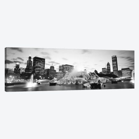 Buckingham Fountain, Grant Park, Chicago, Illinois, USA Canvas Print #PIM11840} by Panoramic Images Canvas Art Print