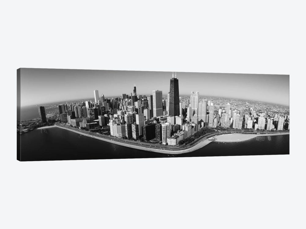 Aerial view of buildings in a city, Lake Michigan, Lake Shore Drive, Chicago, Illinois, USA by Panoramic Images 1-piece Art Print