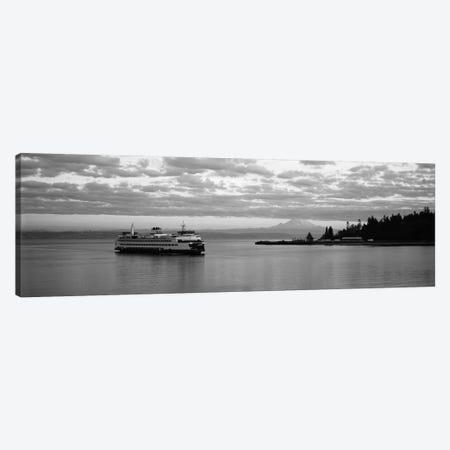 Ferry in the sea, Bainbridge Island, Seattle, Washington State, USA Canvas Print #PIM11871} by Panoramic Images Canvas Artwork