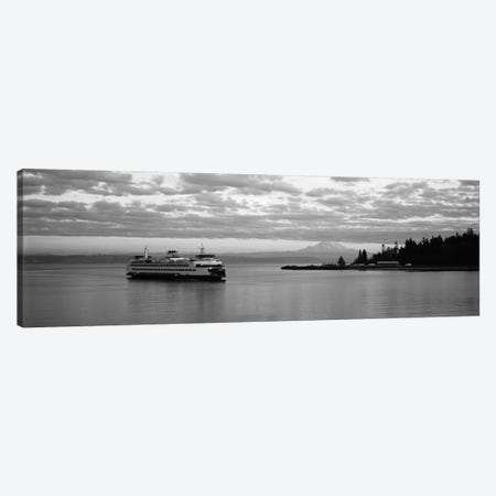 Ferry in the sea, Bainbridge Island, Seattle, Washington State, USA Canvas Print #PIM11871} by Panoramic Images Canvas Artwork