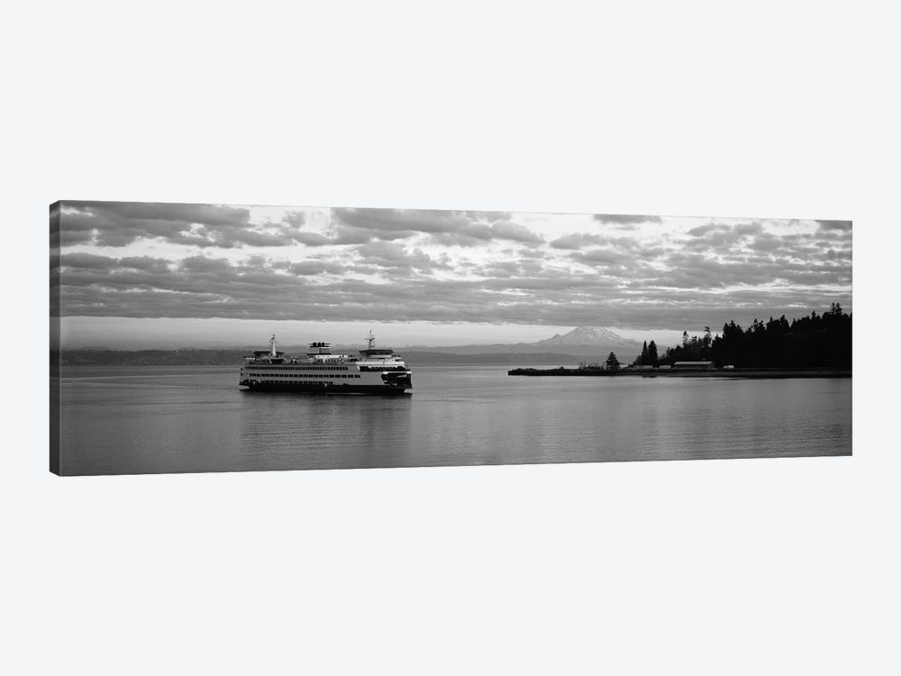 Ferry in the sea, Bainbridge Island, Seattle, Washington State, USA by Panoramic Images 1-piece Canvas Print