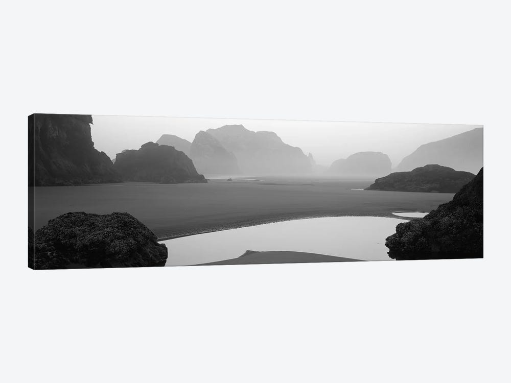 Panoramic view of the ocean, Pacific Ocean, Bandon State Natural Area, Bandon, Oregon, USA by Panoramic Images 1-piece Canvas Print