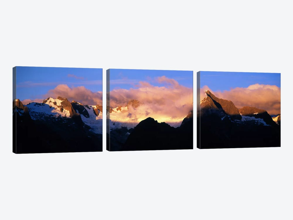 Darren Mtns Fiordland National Park New Zealand by Panoramic Images 3-piece Canvas Artwork