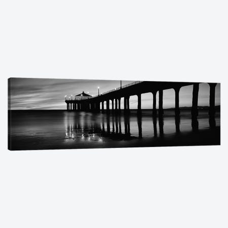 Low angle view of a pier, Manhattan Beach Pier, Manhattan Beach, Los Angeles County, California, USA Canvas Print #PIM11889} by Panoramic Images Canvas Art Print