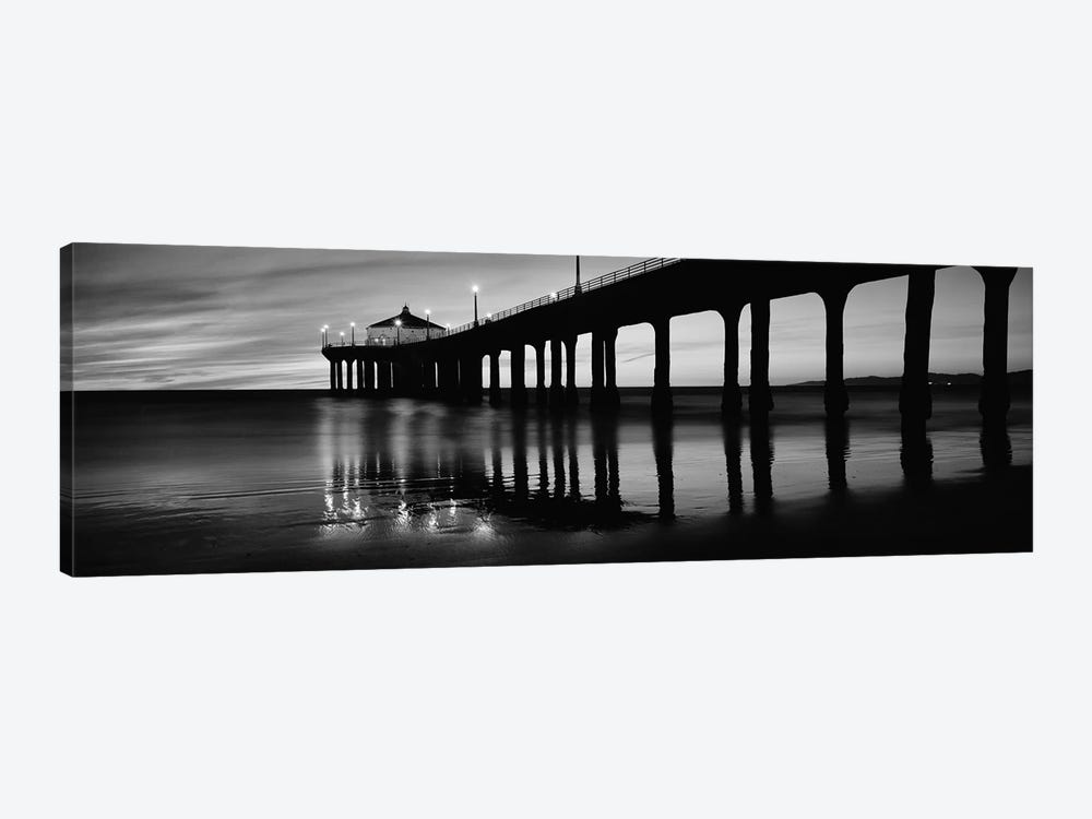 Low angle view of a pier, Manhattan Beach Pier, Manhattan Beach, Los Angeles County, California, USA by Panoramic Images 1-piece Canvas Art
