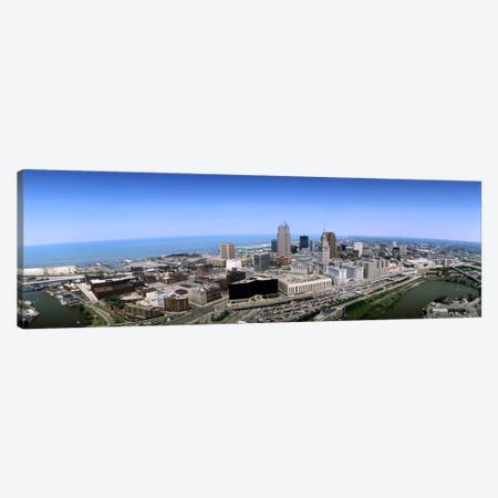 Aerial view of buildings in a cityCleveland, Cuyahoga County, Ohio, USA Canvas Print #PIM118} by Panoramic Images Canvas Art