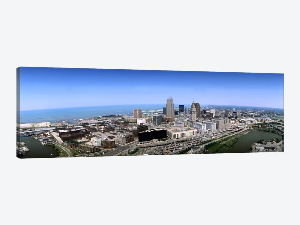 Aerial view of buildings in a cityCleveland, Cuyahoga County, Ohio, USA by Panoramic Images 1-piece Canvas Art