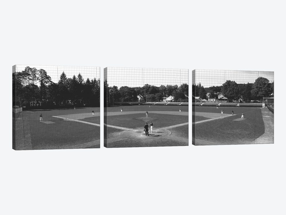 Doubleday Field Cooperstown NY by Panoramic Images 3-piece Canvas Artwork