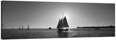 Sailboat, Key West, Florida, USA Canvas Art Print