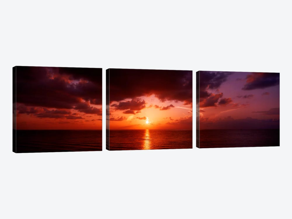 Sunrise Miami FL USA by Panoramic Images 3-piece Canvas Artwork