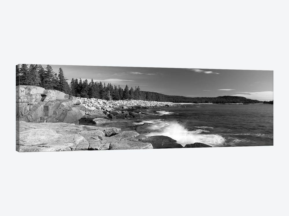 Waves breaking on rocks at the coast, Acadia National Park, Schoodic Peninsula, Maine, USA by Panoramic Images 1-piece Canvas Print