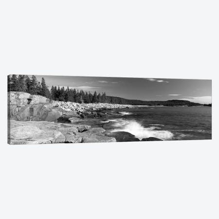 Waves breaking on rocks at the coast, Acadia National Park, Schoodic Peninsula, Maine, USA Canvas Print #PIM11910} by Panoramic Images Art Print