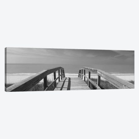 Beachside Boardwalk In B&W, Gasparilla Island, Florida, USA Canvas Print #PIM11911} by Panoramic Images Canvas Art Print