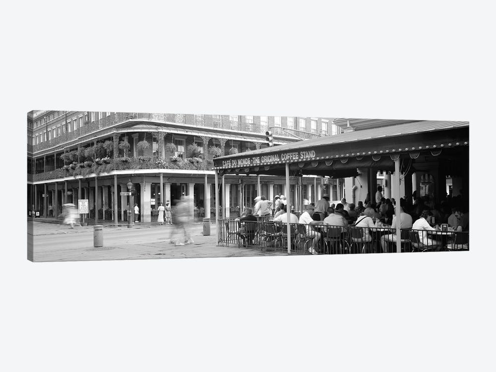 Cafe du Monde French Quarter New Orleans LA by Panoramic Images 1-piece Canvas Print